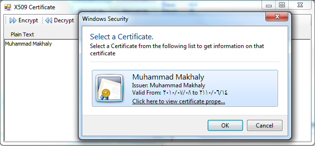 How to: Encrypt and Decrypt your data with X509 Certificates using C#