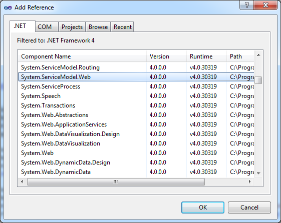 Add Reference Dialog