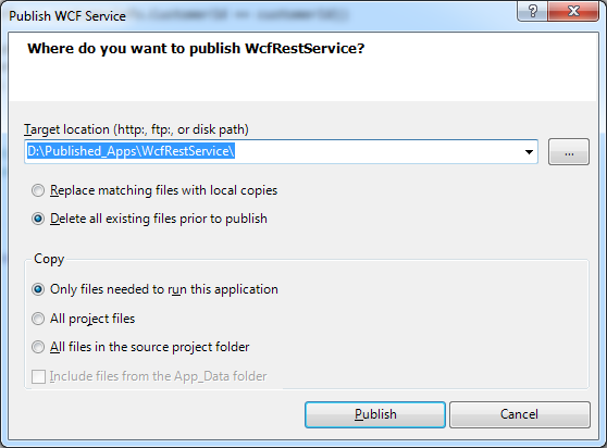 Publish WCF Service